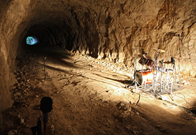 Rock Drums Recorded in a Cave